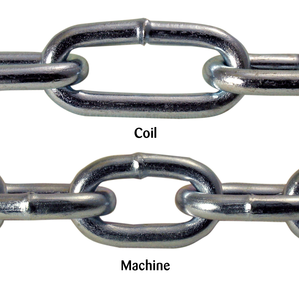 Straight Link Zinc Plated Steel Chain
