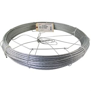 3 / 16 X 250 FT 1X7 EHS Galvanized Guy Strand w / Dispenser Cage