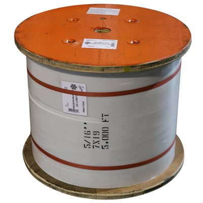 5 16 X 5000 Ft 7x19 Stainless Steel Aircraft Cable