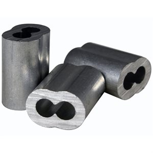 1 / 8 X 100 Pcs Aluminum Sleeves