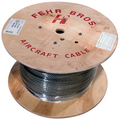 3 / 8 X 250 FT 6X19 Fiber Core Bright Wire Rope
