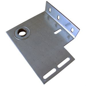 "End Plate - Flanged with 1"" Bearing, 8 Gauge with 5"" Offset (L / R-PR)"