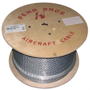 1 / 2 X 250 FT 6X25 IWRC Galvanized Wire Rope