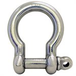 3 / 4 Type 316 Stainless Steel Screw Pin Bow Shackle, (19mm) WLL 7,700 Lbs